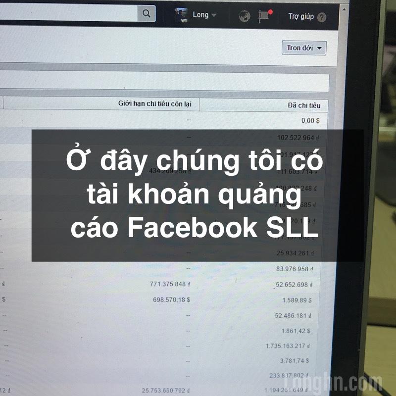 Bán tài khoản quảng cáo Facebook SLL